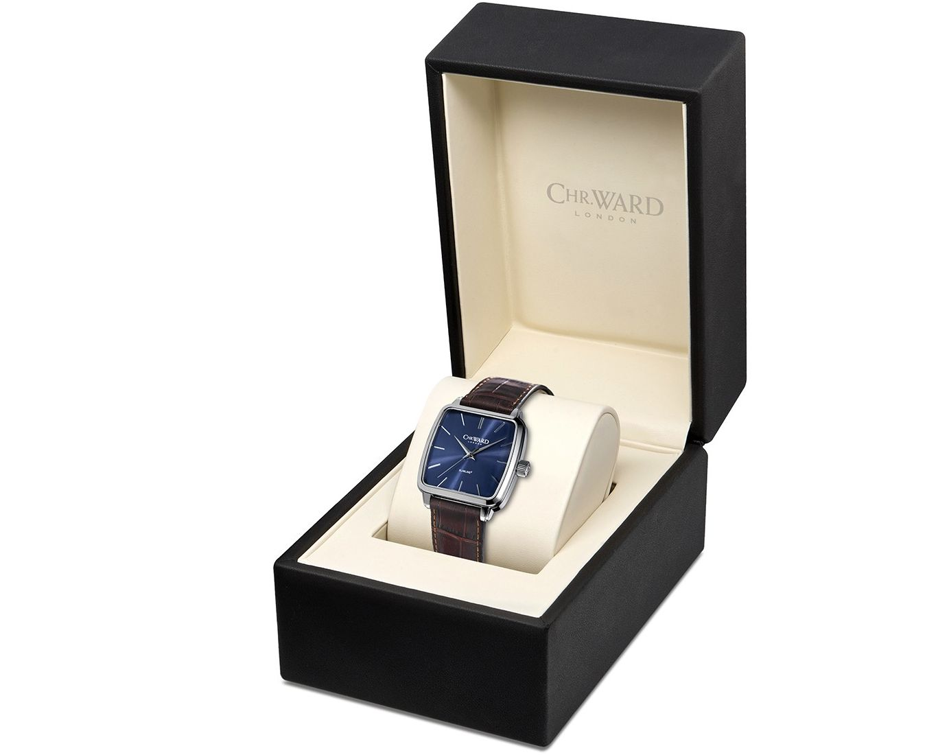 As usual, the Chr. Ward C5 Malvern Slimline Square is offered in a nice presentation box