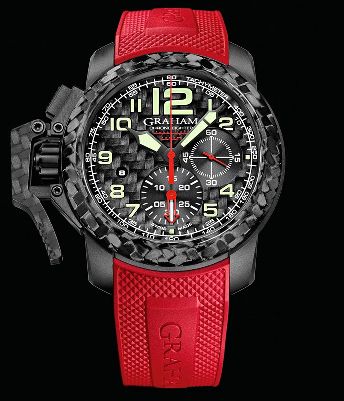on in limited steel strap black grey chronofighter navy oversize seal watches foundation main pvd dial pcs rubber graham essential with camouflage watch chrnofighter edition
