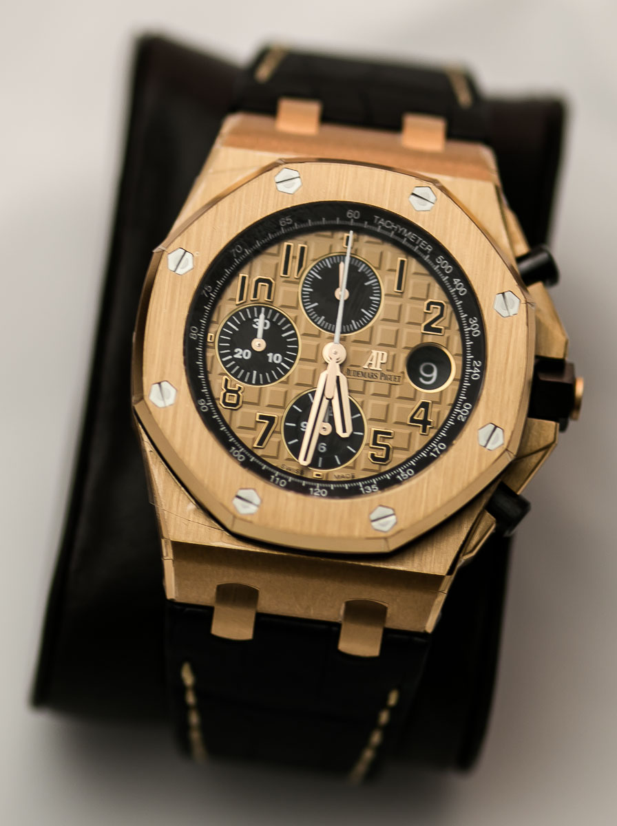 New collection audemars piguet royal oak offshore 42mm swiss sports watch for Royal oak offshore rose gold 42mm