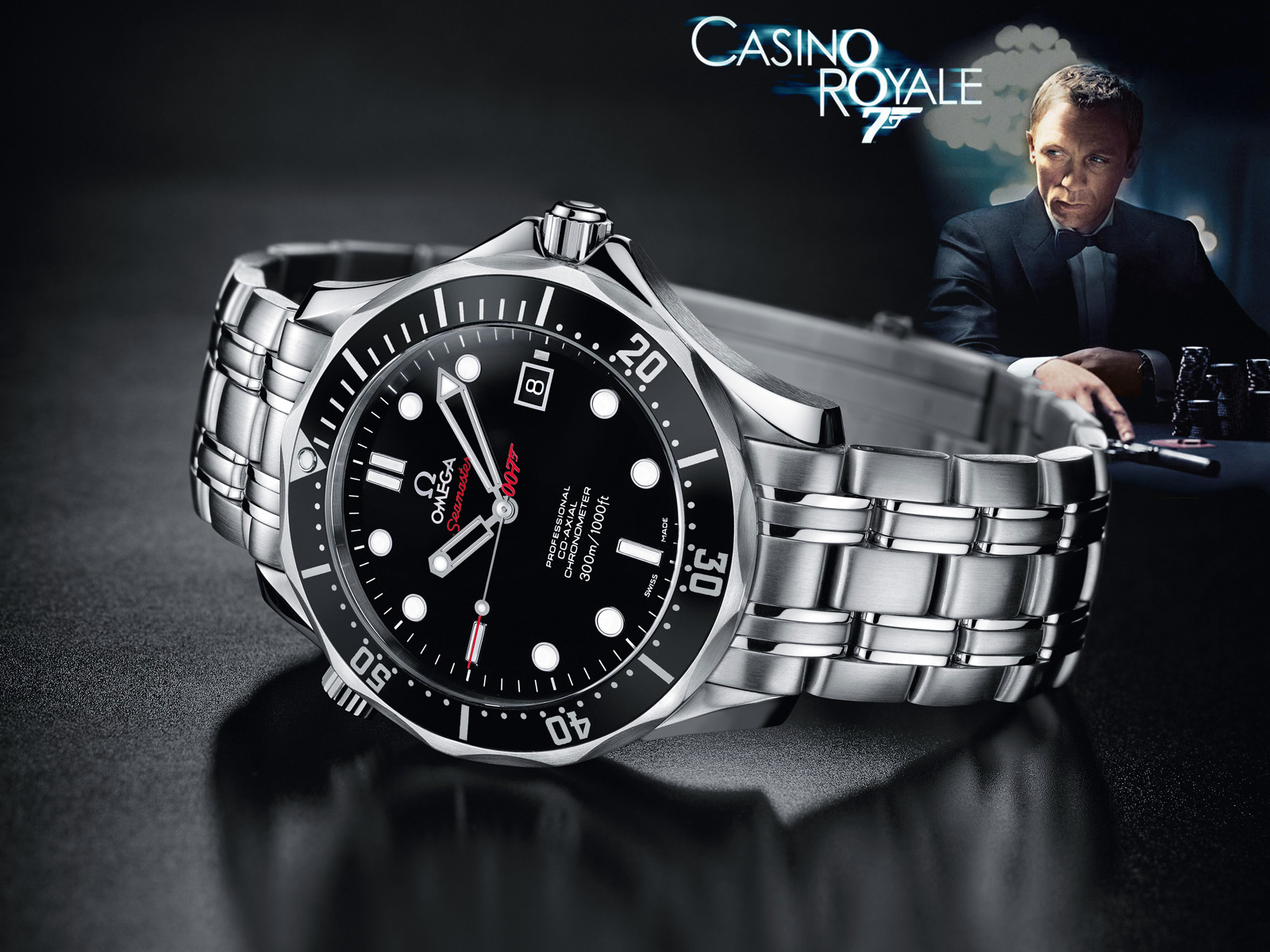 the james bond 007 50th anniversary omega seamaster co axial 300m swiss sports watch. Black Bedroom Furniture Sets. Home Design Ideas