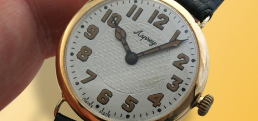 Go back the history of Asprey London early form wristwatch silver 1918