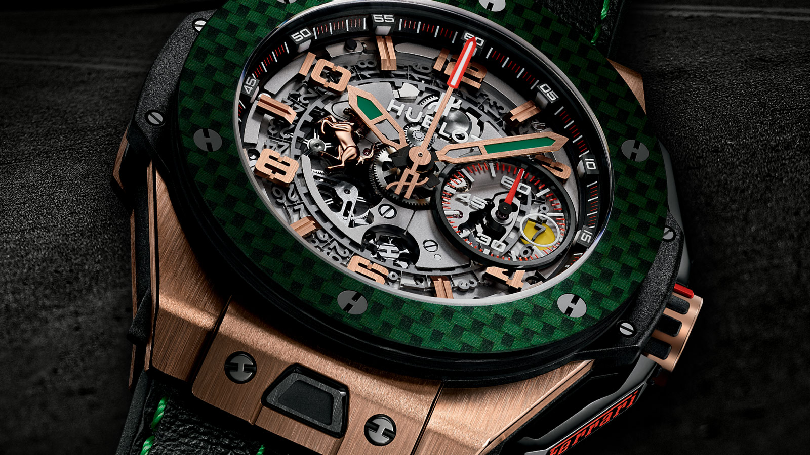 ten unique hublot big bang ferrari tourbillon mexico pieces to mark its symbolic return swiss. Black Bedroom Furniture Sets. Home Design Ideas