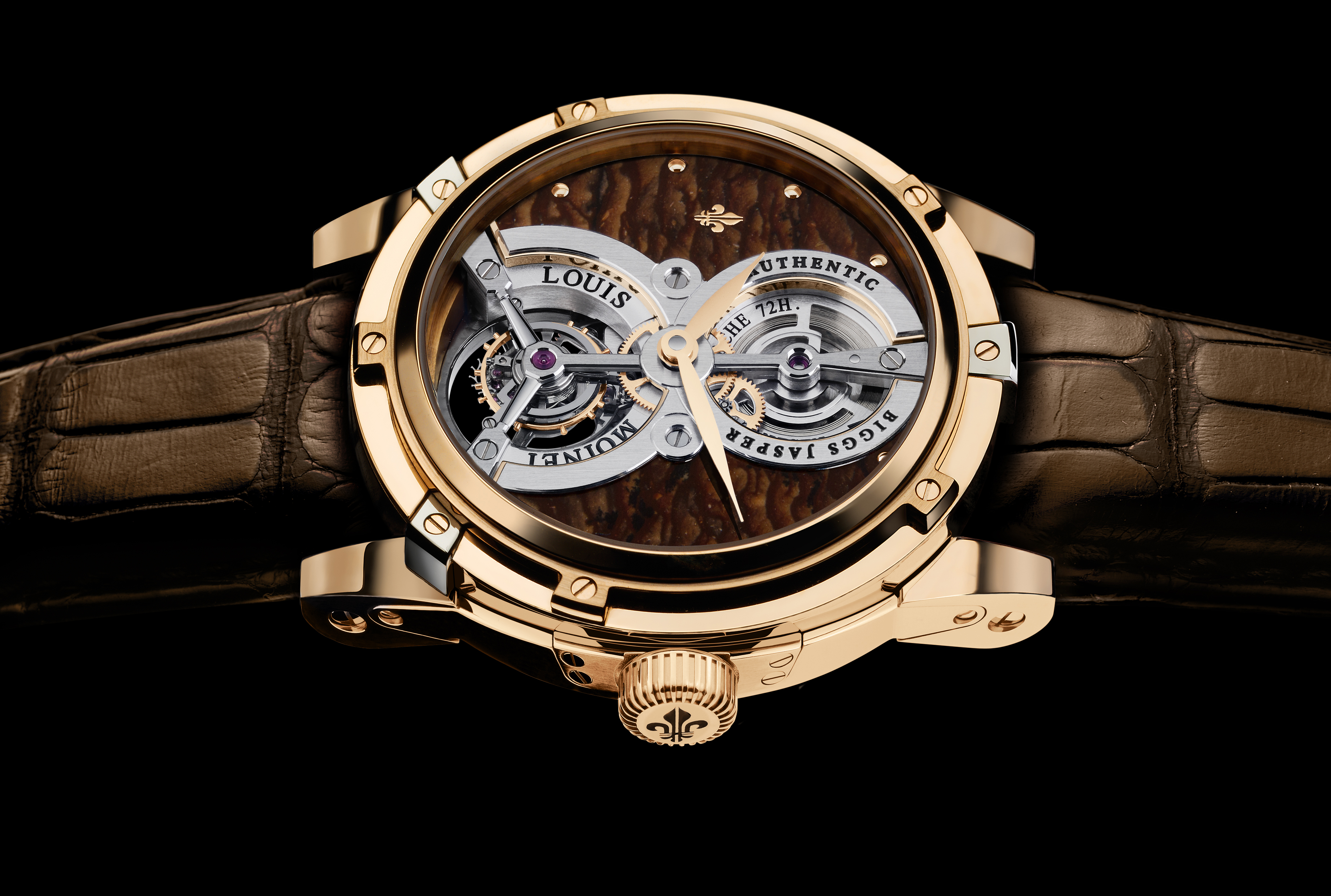 Louis moinet meteoris design is basis of tourbillon mars swiss sports watch for Louis moinet watch