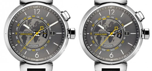 Louis Vuitton Tambour Heures du Monde watch is able to traveller or businessman