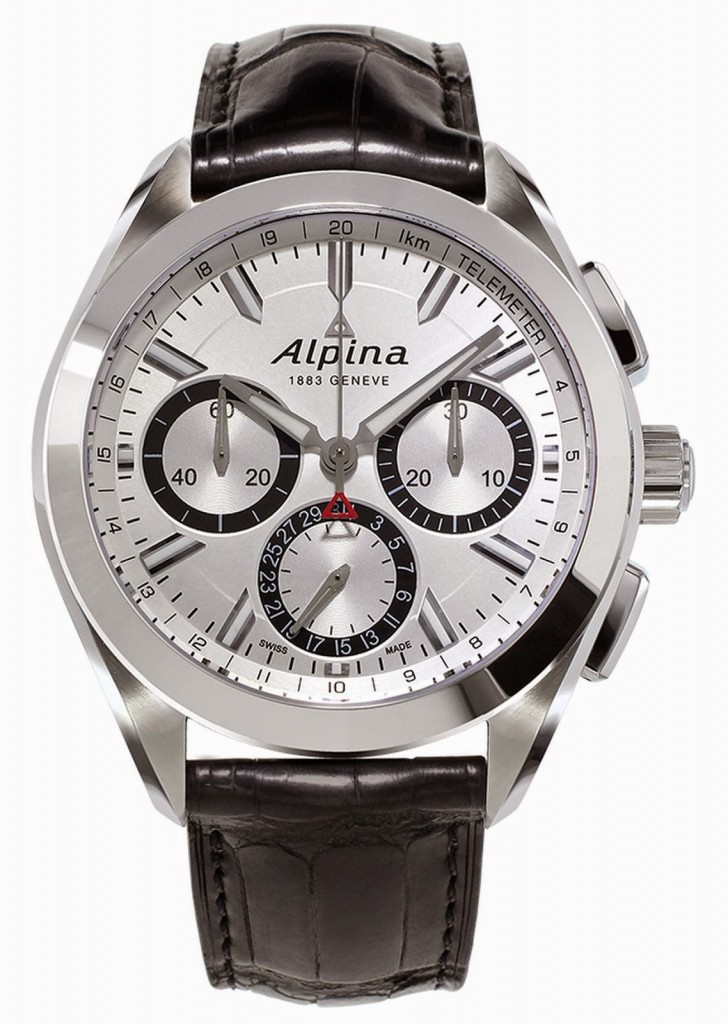 Alpina Alpiner 4 Manufacture Flyback Chronograph:A New Manufacture Calibre AL-760 Alpina also made the hands luminous at night