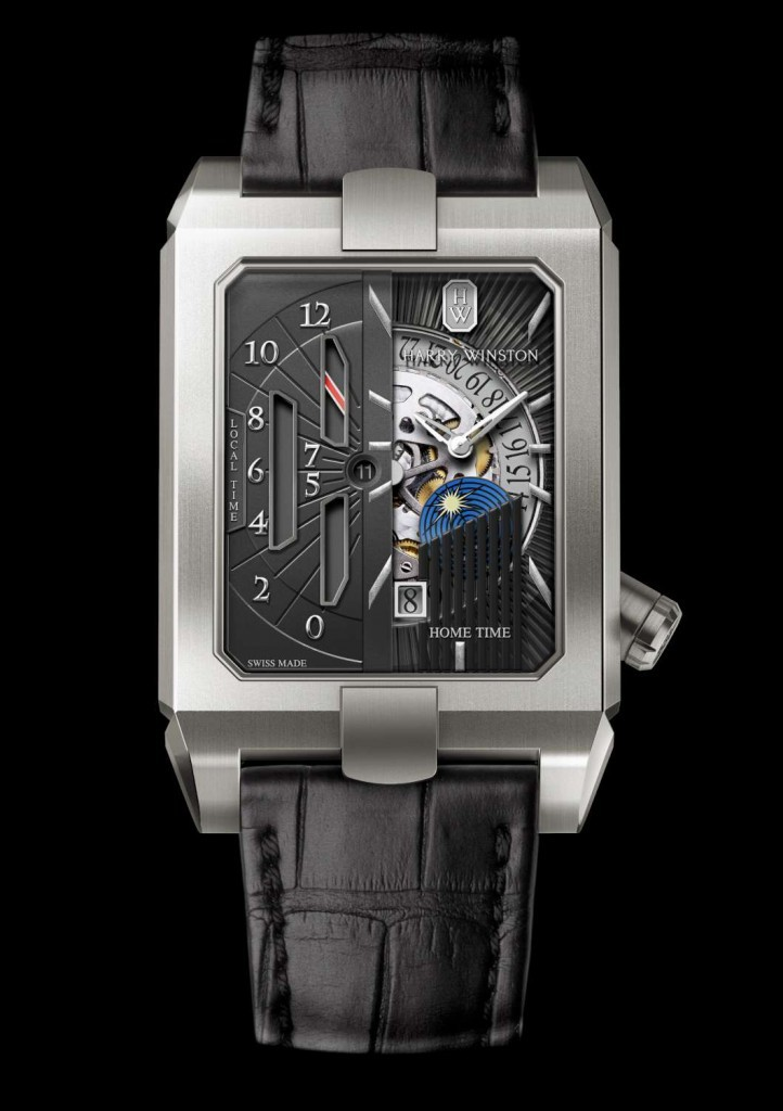 Harry Winston Avenue Dual Time Automatic Watch Show Most Unique And Intriguing On The Dial – Oozing Sophistication And Style