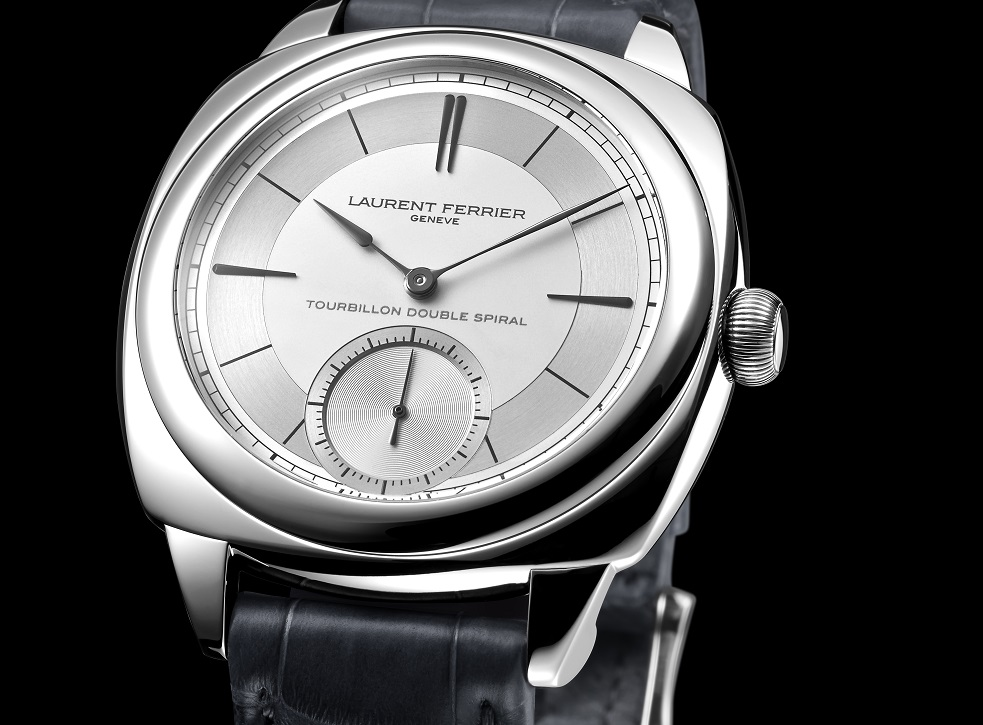 Up Close With Laurent Ferrier Galet Classic Square Tourbillon Double Balance-Spring Sector Dial