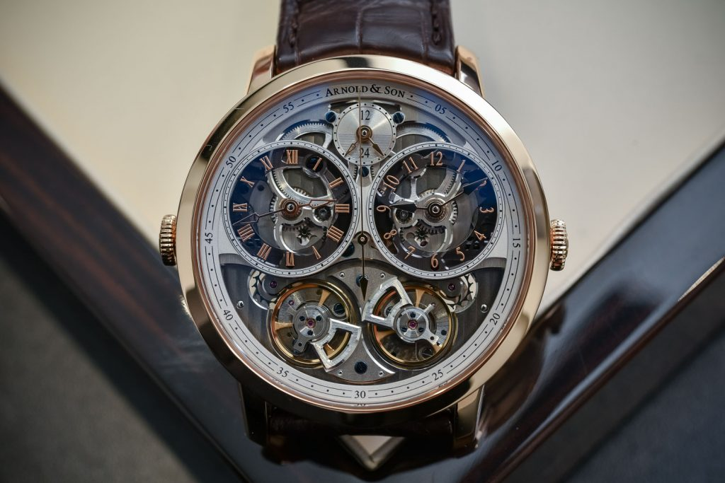 A Complete Guidebook On Arnold & Son DBG Skeleton Dual-Time Men's Watch