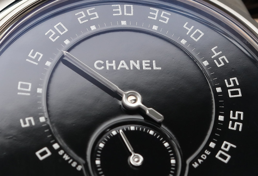 Chanel Monsieur De Chanel Watches.Com Watch In Platinum With Black Enamel Dial Hands-On Hands-On