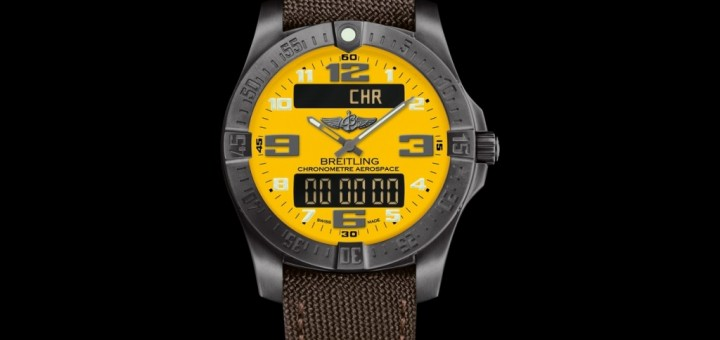 Swiss-certified Breitling Aerospace Evo Night Mission: Satin-Brushed Stealth in baselword 2015