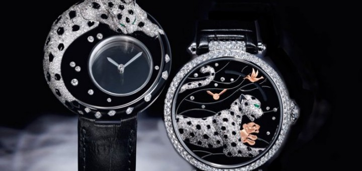"""Cartier The mysteries of the panther: """"Panthères et Colibri"""" new ladies' models"""
