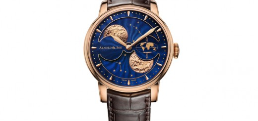 Beautiful Arnold & Son HM Double Hemisphere Perpetual Moon Seen From The Northern Hemisphere